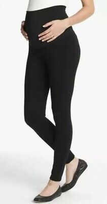 5288d6a3e99fe Maternal America Belly Support Black Maternity Leggings Pants Small $72  Value