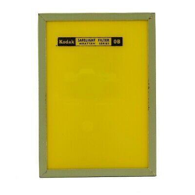 KODAK SAFELIGHT FILTER | 0B Yellow Wratten Series | 5 X 7"
