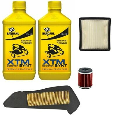 Replacement Kit Xmax x Max 300 2 Bardahl XTM 10W40 + Filters 2017 2018 2019
