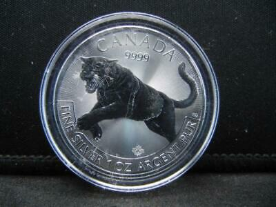 2016 Canadian Predator Series One Ounce Pure Silver Cougar Proof