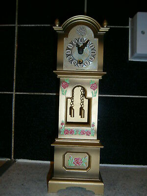 vintage small table tempus fugit  grandfather clock