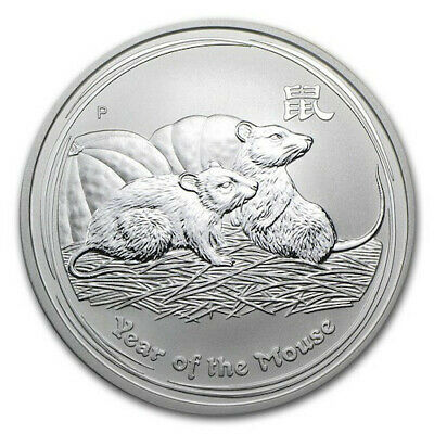 2008 LUNAR MOUSE - 1 Oz 999 SILVER COIN (IN CAPSULE) LM4