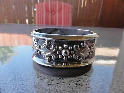 Vintage Sterling Silver Mexico Taxco TH-165 Bold Statement Clamper Cuff Bracelet