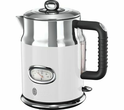 RUSSELL HOBBS Retro 21674 Jug Kettle - Cream 3000W, 1.7 L, Stainless Steel