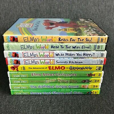 Lot Of 23 Sesame Street And Elmo Dvds 44 95 Picclick