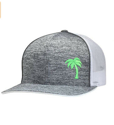 db4ac0e66eefdd Lindo Trucker Hat - Palm Tree Series - by (Static Gray/Neon)