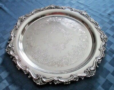 """Wilcox I S International Silver Co.16"""" Silver Plated Tray Essex Manor #2872 SALE"""