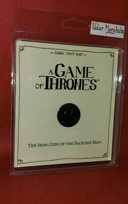 """GAME OF THRONES """"IRON COIN OF THE FACELESS MAN"""" Valar Morghulis Shire Post Mint"""