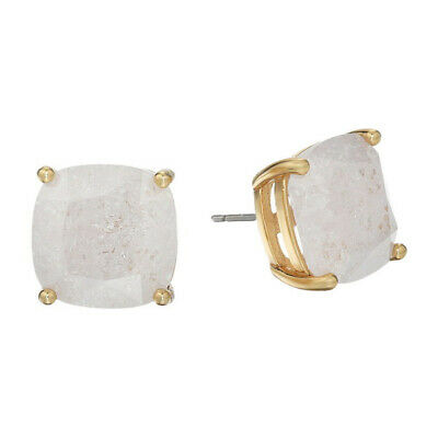 49f2e6c7f KATE SPADE SOCIAL Butterfly Stud White Crystal Gold Tone Earrings ...