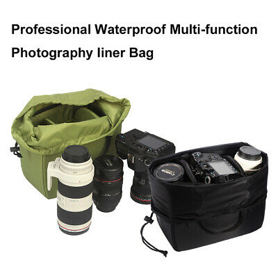 Beam-type Waterproof SLR Camera Bag Insert Partition Padded Lens Pouch Cover