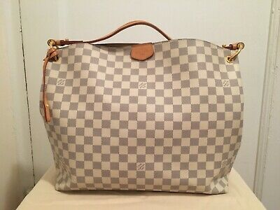 754863d1c5583 Louis Vuitton Graceful MM in Damier Azur N42232 in Good Pre-owned Condition