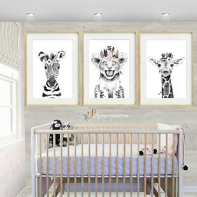 Safari Animal Nursery Wall Prints,Girls wall prints,Safari Decor,