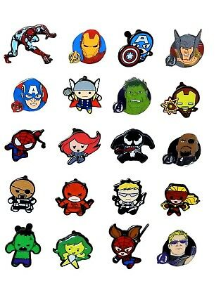 The Hulk Themed 5 Marvel Disney Park Trading Pins Set ~ Randomly Assorted ~ NEW