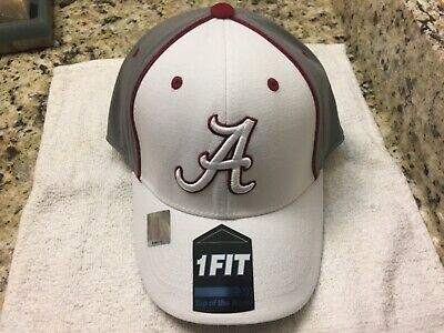 promo code a601c 8b25d NCAA ALABAMA CRIMSON TIDE TOP OF THE WORLD ONE-FIT HAT White GRAY