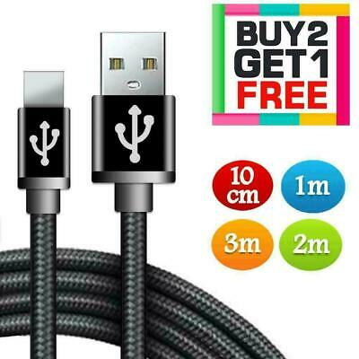 Long Braided USB Fast Charger Charging Data Cable Lead For iPhone 6s 7 8 6 5s X