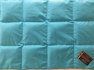 New Teal Weighted Lap Blanket approx 70cm x 50cm @ 2kg