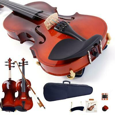 Maple Wood 4/4 Size Acoustic Violin Fiddle Set for Beginner Students