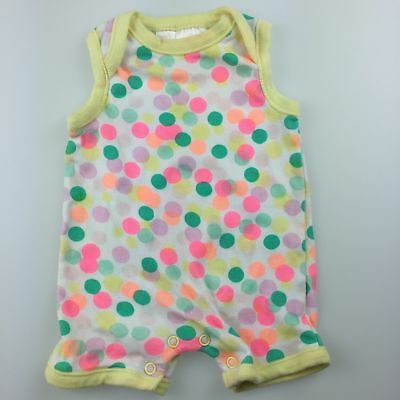 Girls size 0000, Dymples, cotton romper / playsuit, GUC