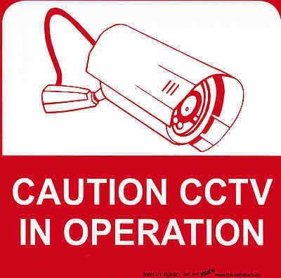 Sign Warning Sign Camera 21 x 21 cm Caution CCTV in operation 308817-1