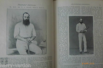 W G Grace Cricket Rare Old Victorian Interview Family Photo Article Letter 1895