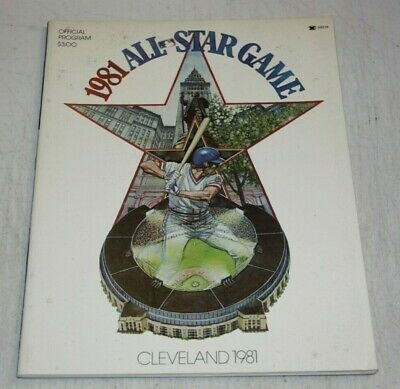 1981 MLB All Star Game Program