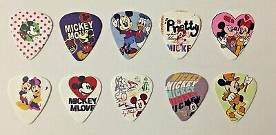 MICKEY MOUSE Guitar Picks Plectrums 10 pack - medium thickness (0.7mm)