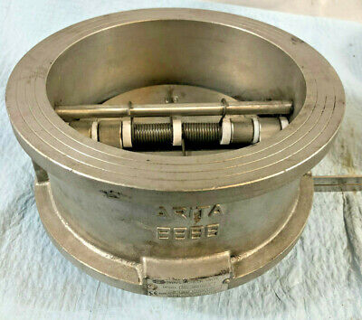 "6"" Wafer Check Valve - 316 Stainless Steel - Dual Plate. 150psi NRV. Viton Seat"