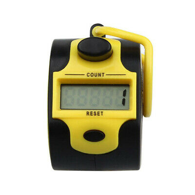 Mini 5 Digit Electronic LCD Display Digital Hand tally counter Yellow Q8L5
