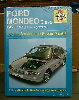 1993 TO 1996 NEW SEALED HAYNES MANUAL FOR FORD MONDEO DIESEL L TO N REG.