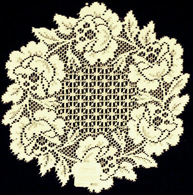 Cottage Rose 15 Inch Round Ecru Lace Doily Set Of (2) Heritage Lace
