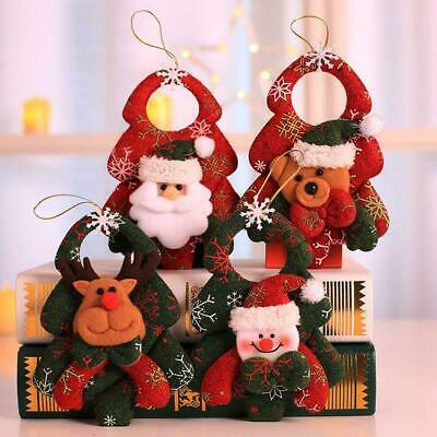 Santa Claus Merry Christmas Snowman Doll String Xmas Toy Hanging Ornament K0M1