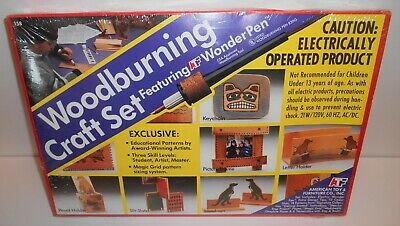 Vintage Woodburning Craft Set Featuring ATF Wonder Pen Sealed New Old Stock