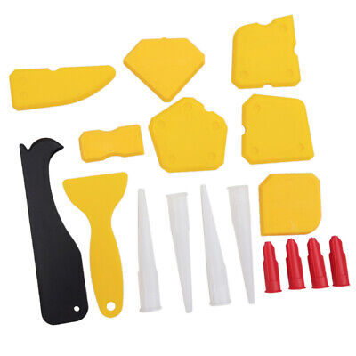 17Pcs Caulking Tool Kit Sealant Finishing Caulk Caps Scraperfor Bathroom