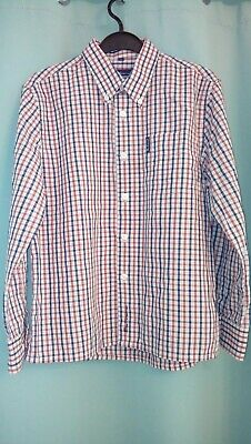 Ben Sherman Size S Boys Cotton Mix Red & Blue Checked Shirt Age 8/9 Years
