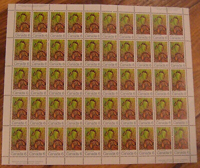 Canada #535i+ii VF NH -with VARIETY - Full sheet 50  (Spring) POS 15 & COL 5