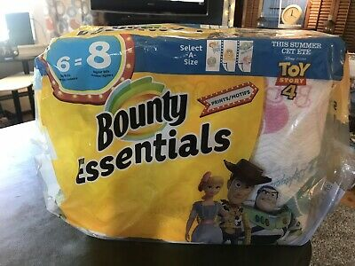 Bounty Essentials 6 Pk Toy Story Paper Towels