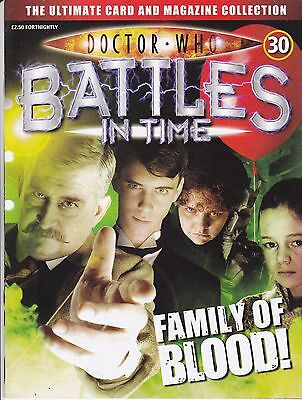 Doctor Who Battles In Time Magazine No 30 Family Of Blood !