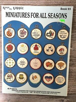 Kount on Kappie Cross Stitch Pattern: Miniatures for all Seasons, Book 93
