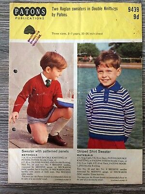 Patons Knitting Pattern: Boys Sweaters, DK, 2-7years, 9499