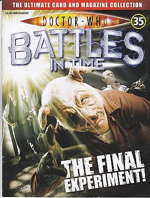 Doctor Who Battles In Time Magazine No 35 The Final Experiment !