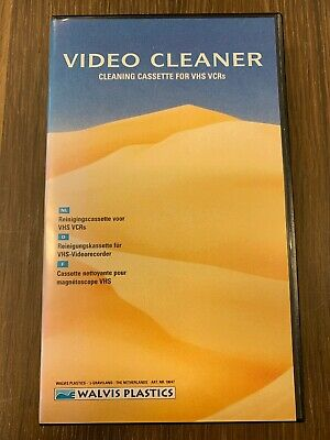 Walvis Plastics Video Cleaner Video Head Cleaning Tape New
