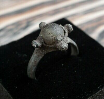 Ancient Viking Ring with Stone or Glass ca. 9th Century A.D. Medieval Jewelry