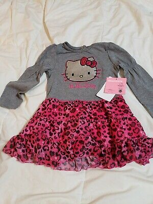 131e19db3 Hello Kitty Girls Size 2T Sequin Graphic Heather Grey/Pink Dress Nwt $36  Sale