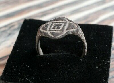 Ancient Viking Period Ring with Nordic Ornament ca. 9th-11th Century AD Medieval