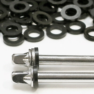 200 Qty. NEW BLACK NYLON DRUM TENSION ROD WASHERS For Tom/Bass/Snare, FREE SHIP!