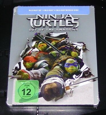 Ninja Turtles Out Of The Ombres 3D Limitée Edition Blu Ray Steelbook Neuf