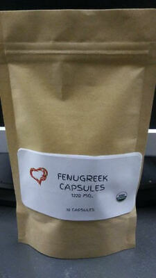 Fenugreek Seed Capsules ~1220 Mg.~ 30 Count~Thyroid, Stomach ,Inflammation