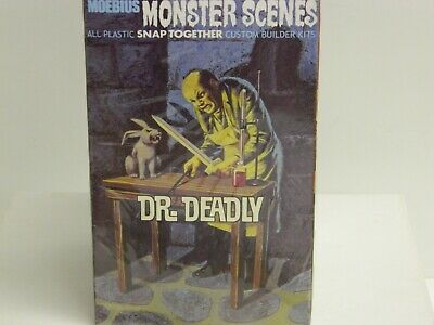 MOEBIUS MONSTER SCENES Model Kit DR DEADLY New in Sealed Box Very Hard To  Find//