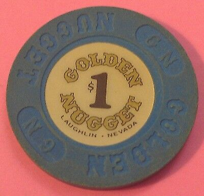 Golden Nugget ~  $1 Casino Chip ~ Laughlin, Nevada ~ 1980'S ~ Vintage!
