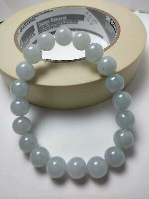 100% Natural Genuine Burmese Jadeite Jade Beaded Bracelet Grade A #118